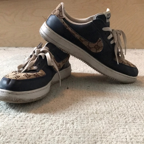 Nike Shoes Custom Air Force 1 Low Gucci Monogram Print Poshmark